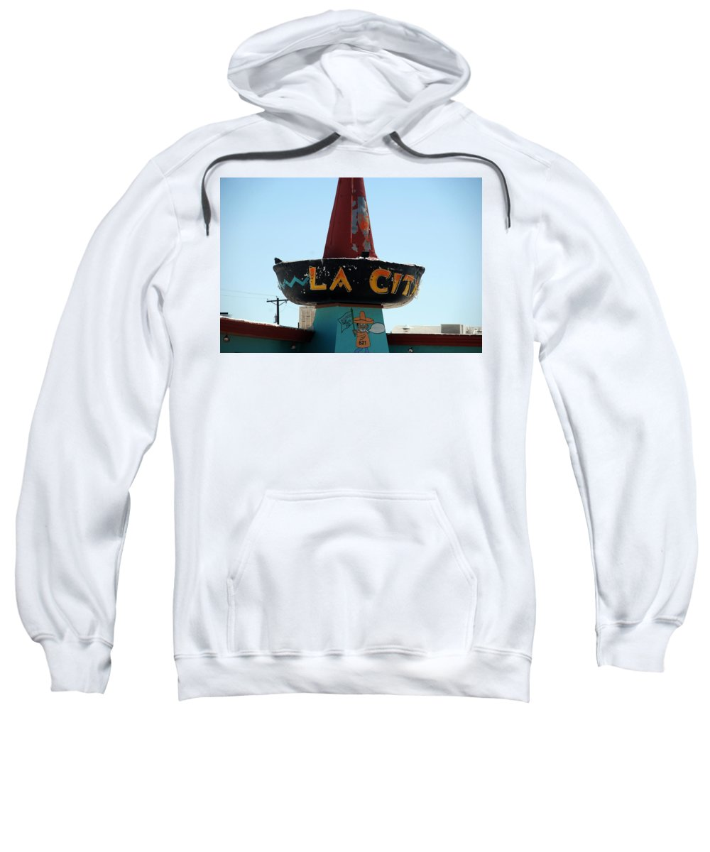Route 66 Sweatshirt featuring the photograph La Cita In Tucumcari On Route 66 Nm by Susanne Van Hulst