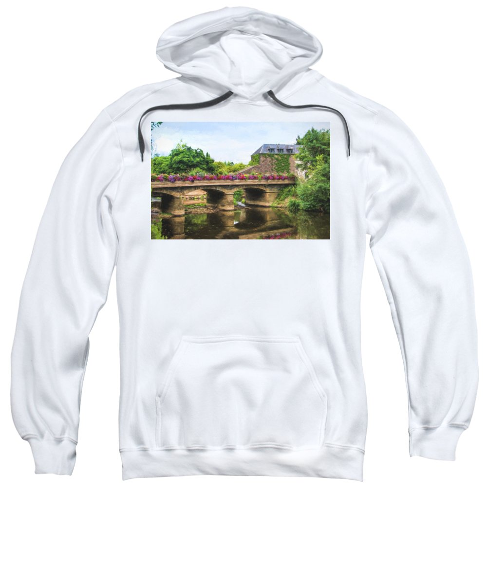 La Gacilly Sweatshirt featuring the photograph La Gacilly, River Aff, Brittany, France by Curt Rush