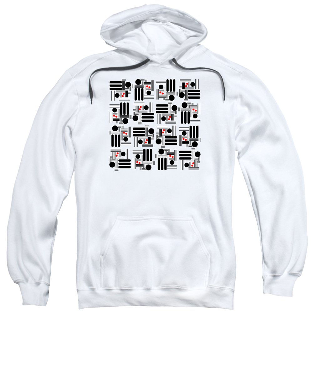 Abstract Sweatshirt featuring the digital art L A Hot Spots by Lois Boyce