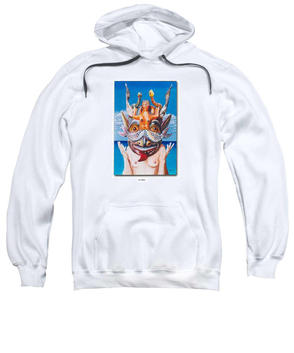 Hyperrealism Sweatshirt featuring the painting La Sirena by Michael Earney