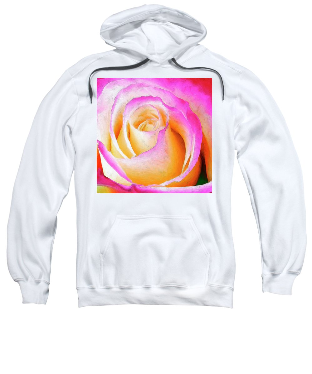 Roses Sweatshirt featuring the painting Labyrinth by Dominic Piperata