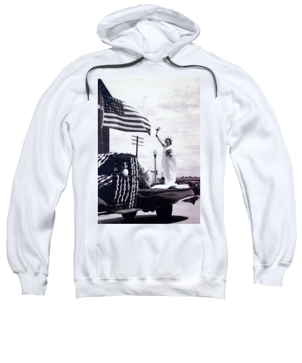 4th Of July Sweatshirt featuring the photograph Lady Liberty by Kurt Hausmann