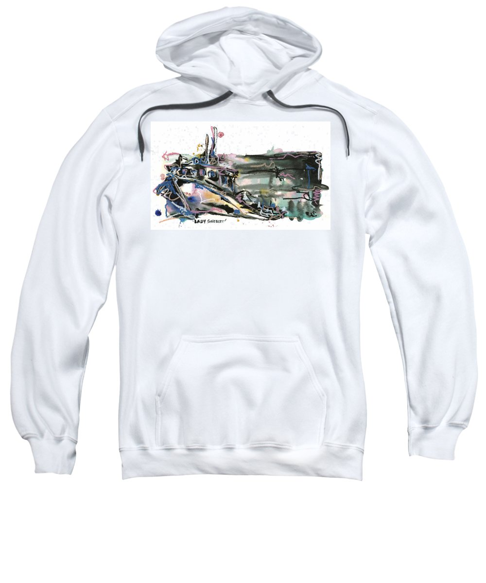 Seascape Sweatshirt featuring the painting Lady Sherbert by Robert Joyner