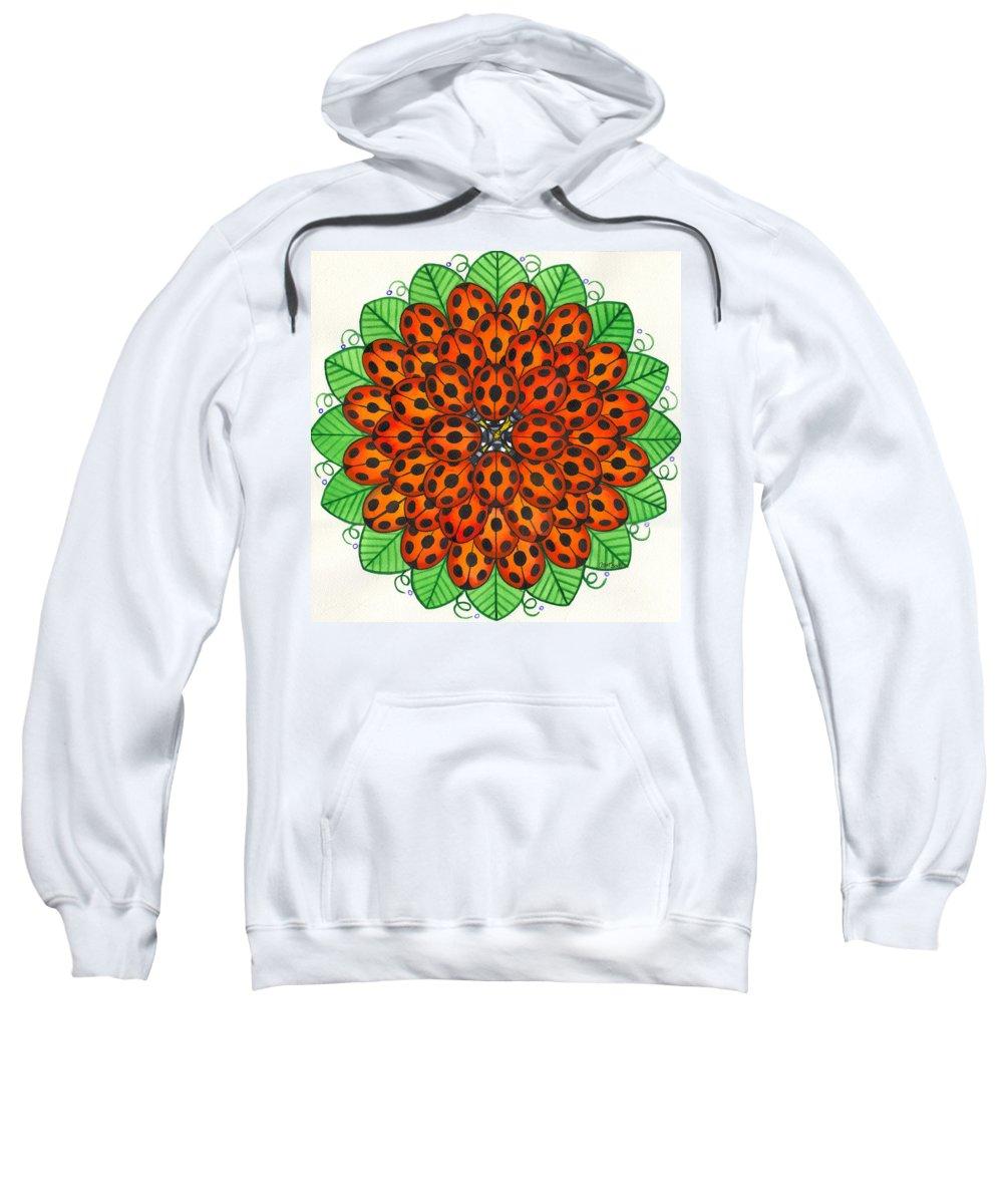 Ladybug Sweatshirt featuring the painting Ladybug Design by Catherine G McElroy
