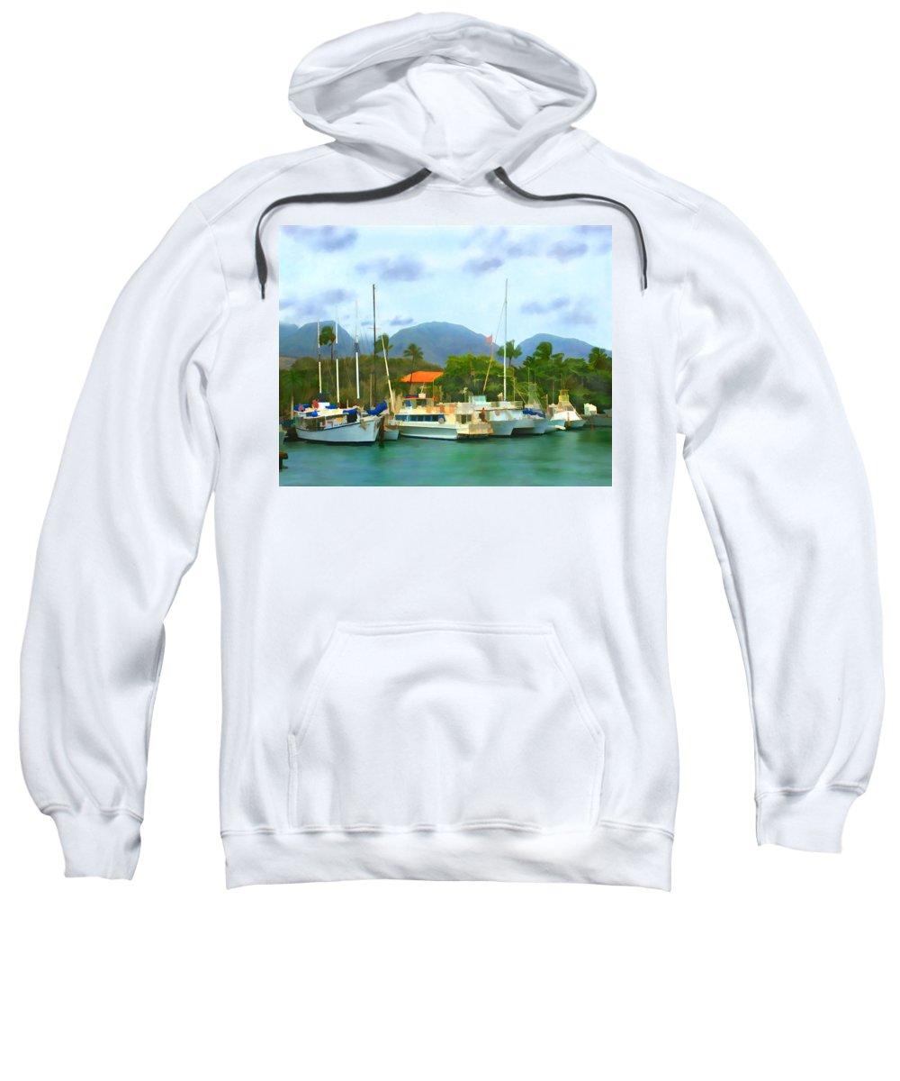 Lahina Sweatshirt featuring the photograph Lahina Harbor by Kurt Van Wagner