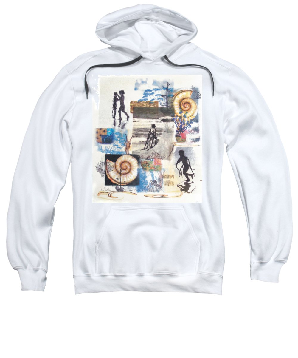 Abstract Sweatshirt featuring the painting Lajolla by Valerie Meotti