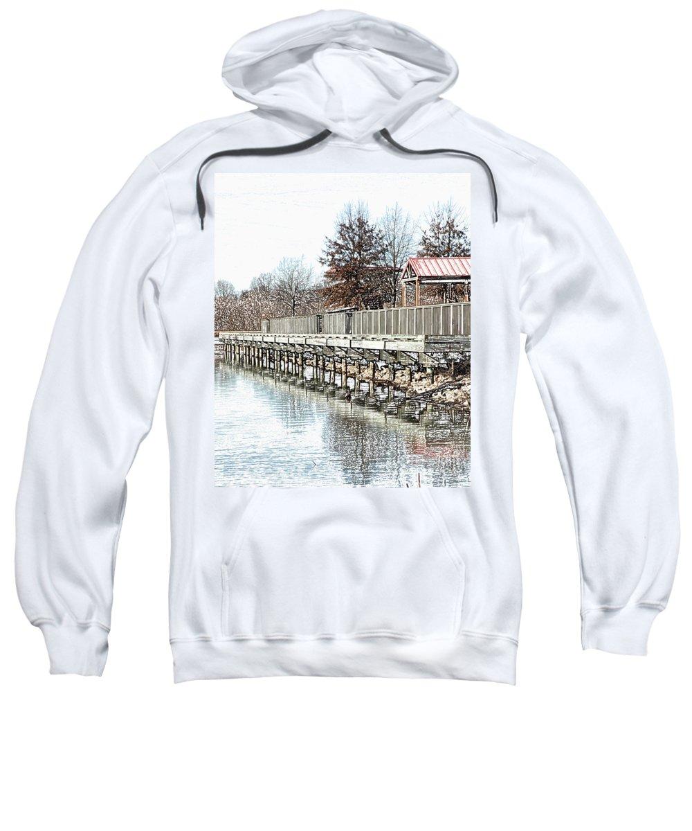 Lakes Sweatshirt featuring the photograph Lake by Amanda Barcon