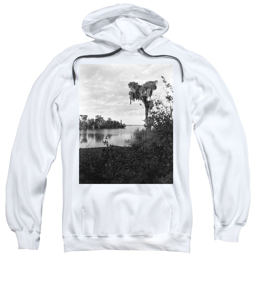 1920 Sweatshirt featuring the photograph Lake Charles, Louisiana by Underwood Archives