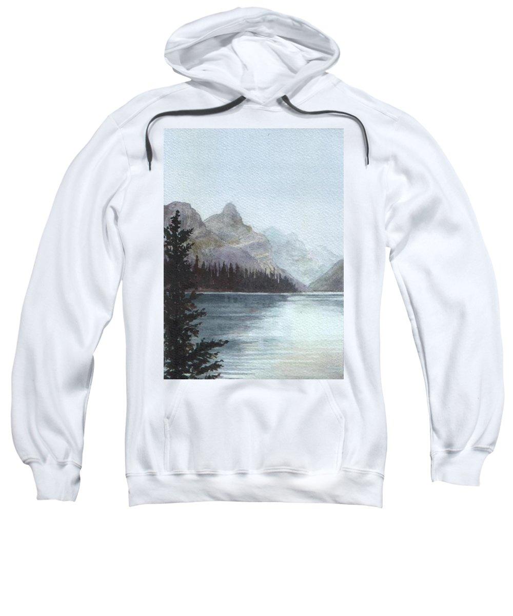 Watercolor Sweatshirt featuring the painting Lake Helevorn by Brenda Owen