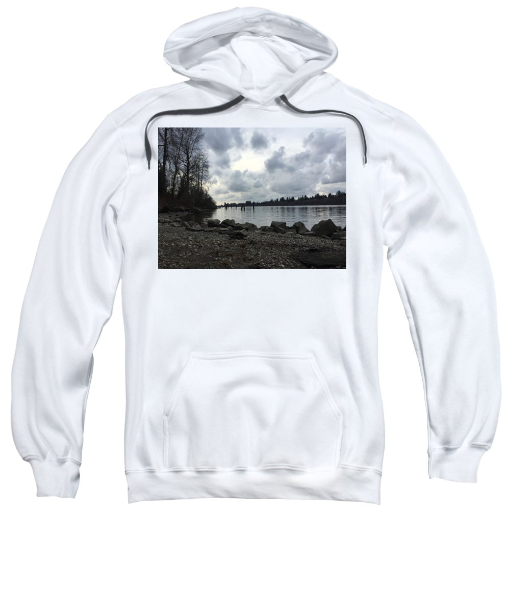 Landscape Sweatshirt featuring the photograph Lake Side by Paige Miles