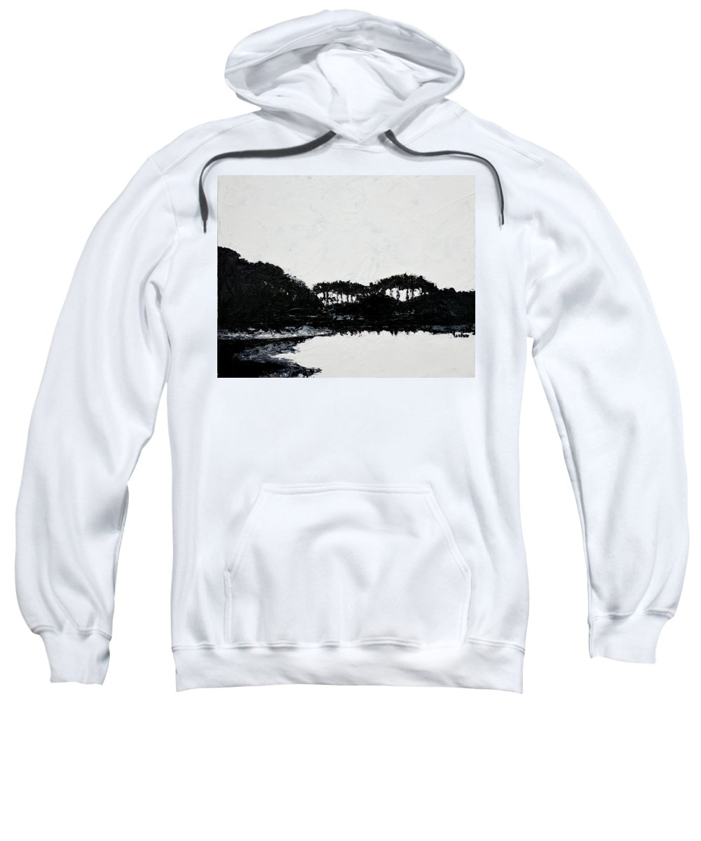 Landscape Sweatshirt featuring the painting Lal Bagh Lake 3 by Usha Shantharam