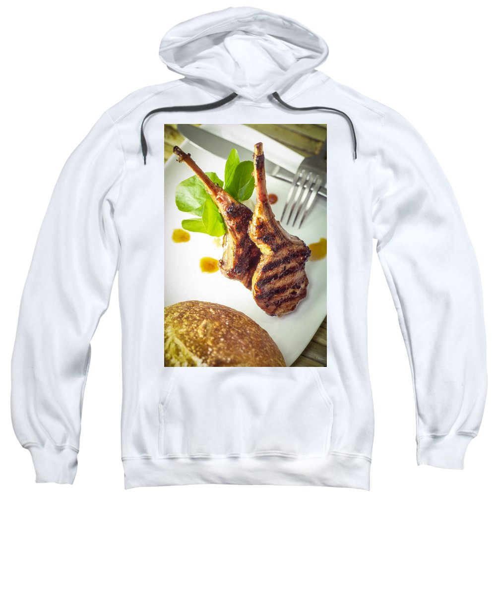 Two Lamb Chops Sweatshirt featuring the photograph Lamb Chop 4 by Mike Penney