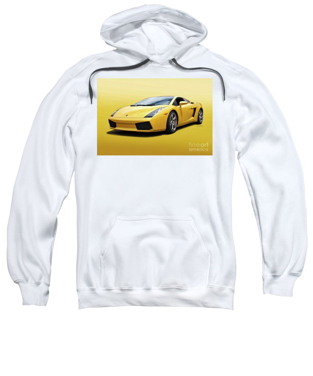 Auto Sweatshirt featuring the photograph Lamborghini Gallardo 'banana Republic' II by Dave Koontz