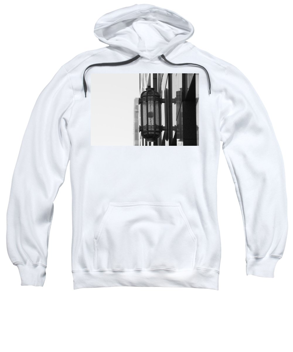 Architecture Sweatshirt featuring the photograph Lamp On The Wall by Rob Hans