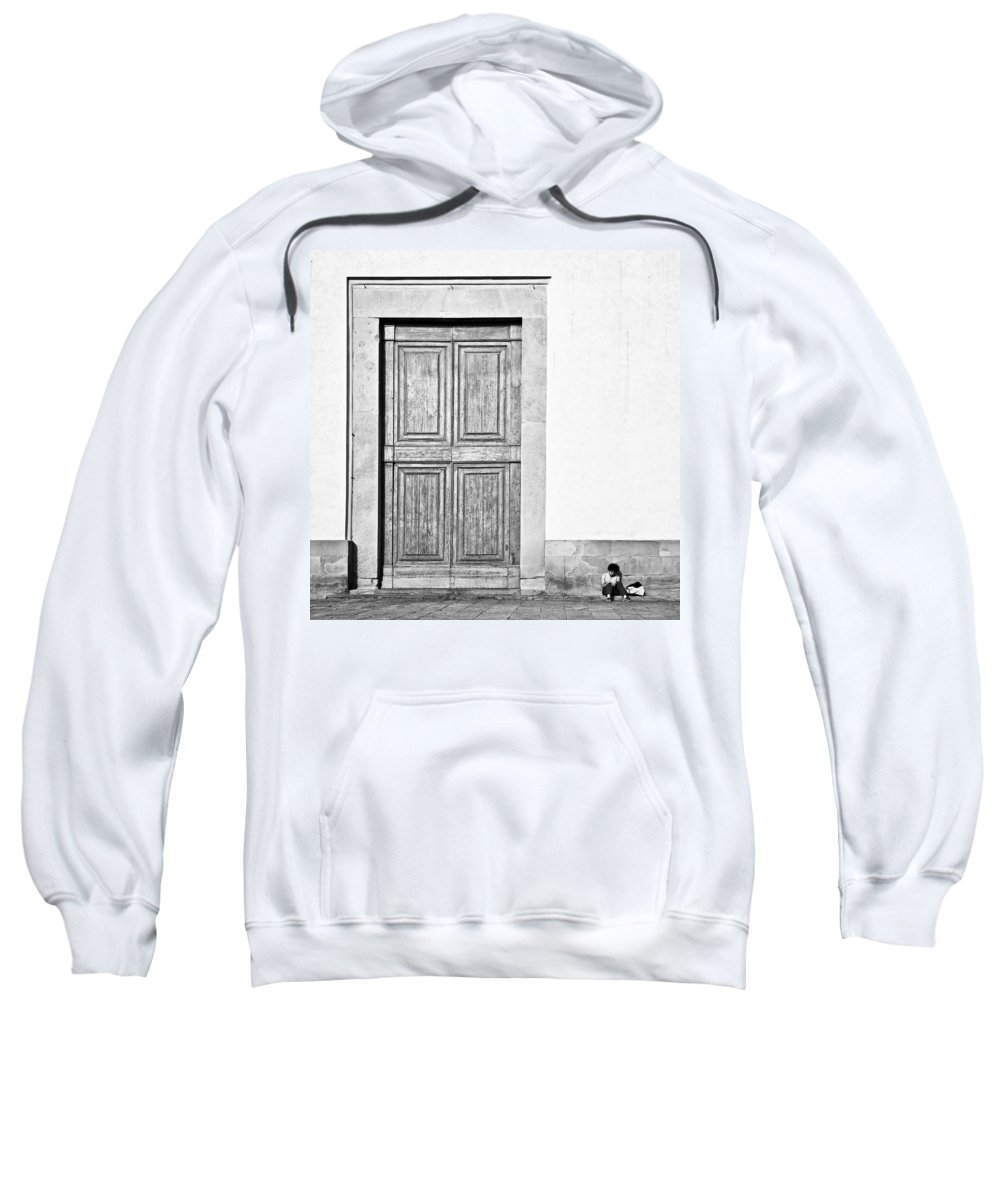 Door Sweatshirt featuring the photograph Land Of The Giants by Dave Bowman