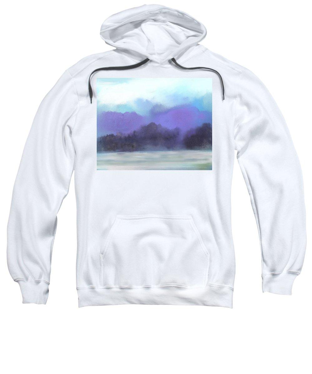 Digital Painting Sweatshirt featuring the digital art Landscape 02-19-10 by David Lane