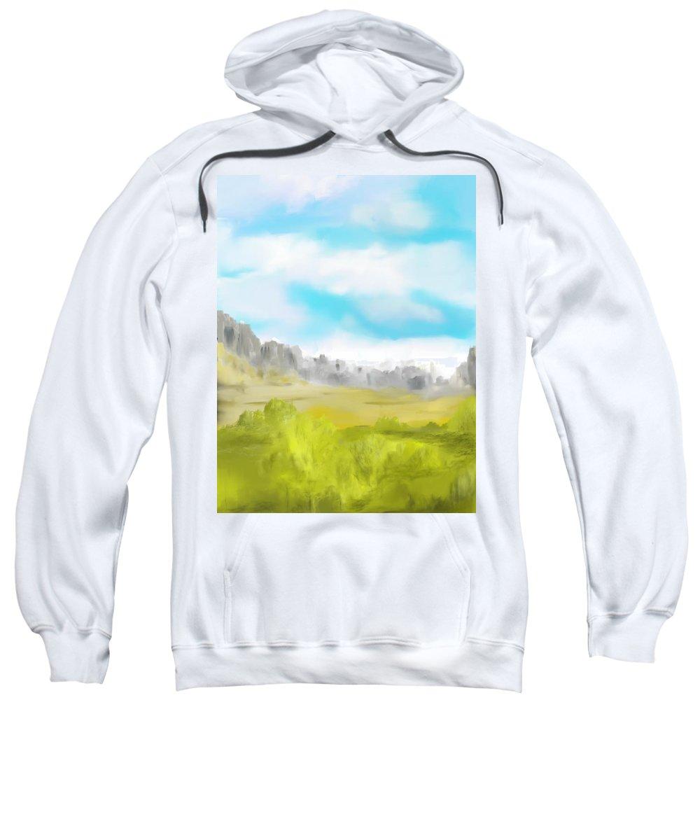 Landscape Sweatshirt featuring the digital art Landscape 040710 by David Lane