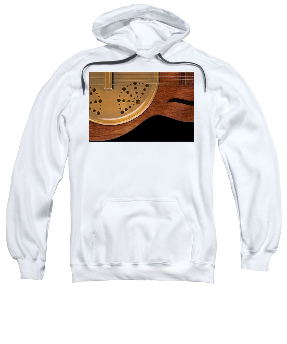 Guitar Sweatshirt featuring the photograph Lap Guitar I by Mike McGlothlen