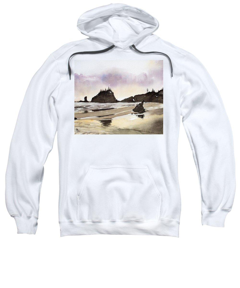 Washington Sweatshirt featuring the painting Lapush by Gale Cochran-Smith