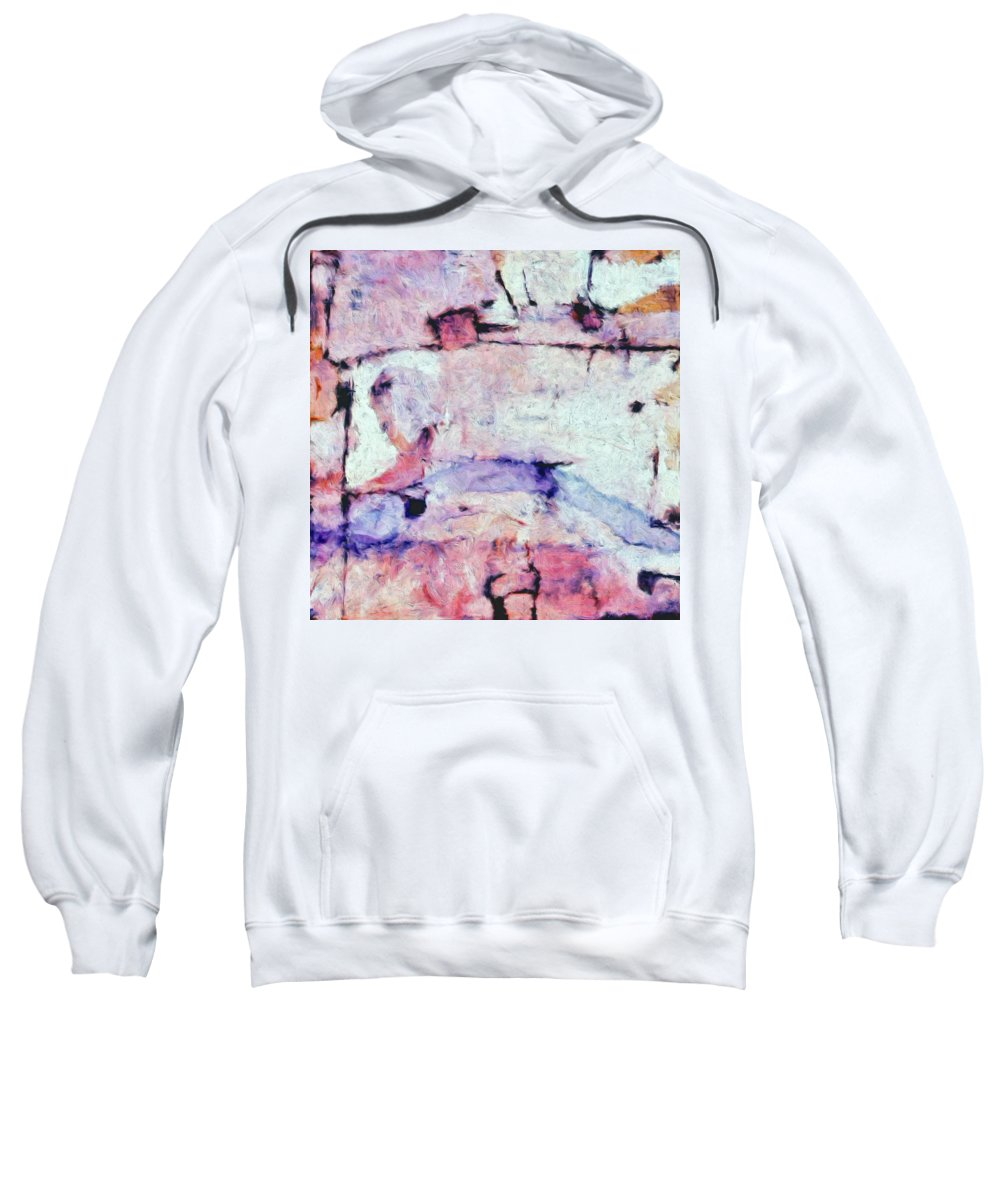 Abstract Sweatshirt featuring the painting Laredo by Dominic Piperata