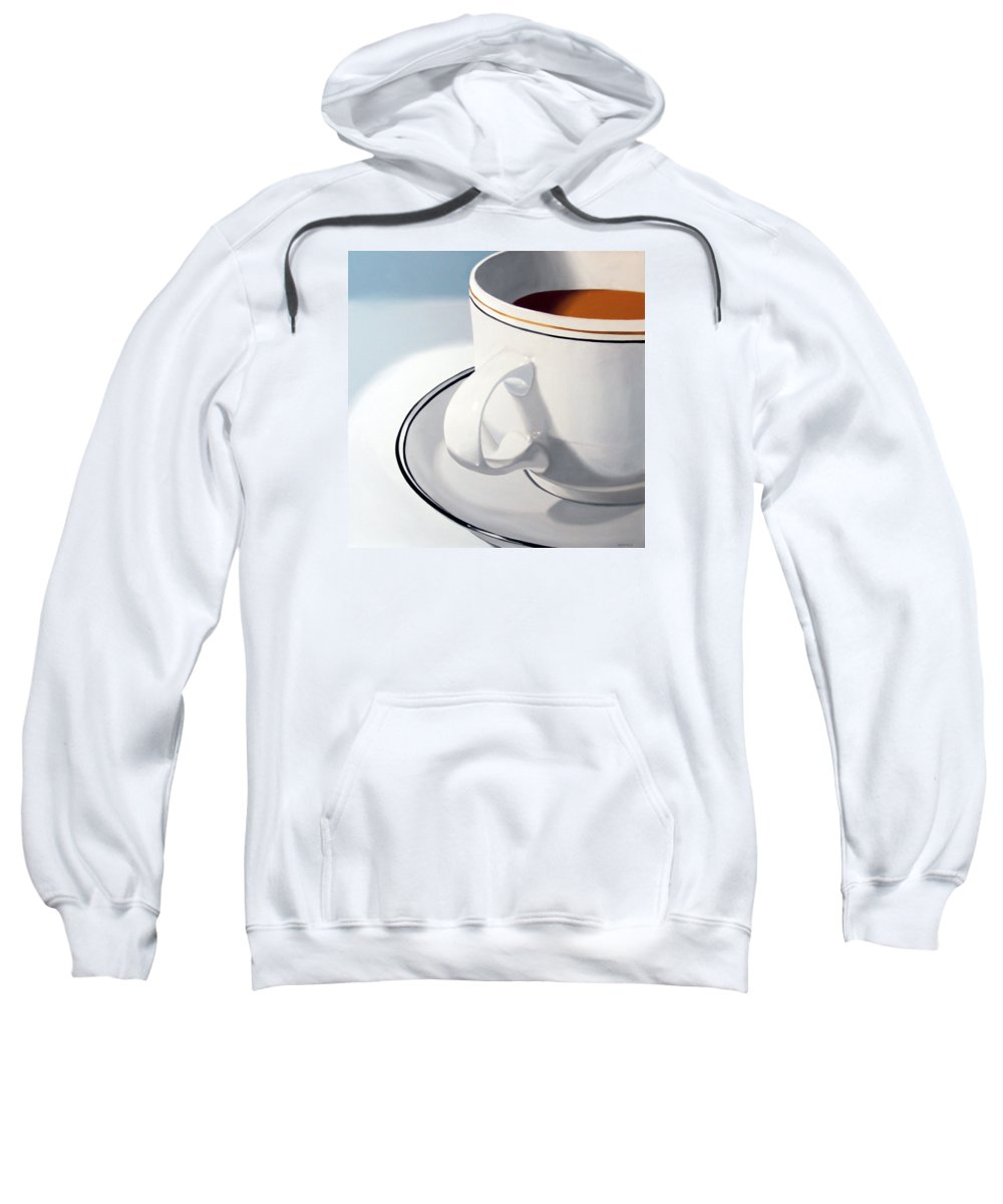A Painting A Day Sweatshirt featuring the painting Large Coffee Cup by Mark Webster