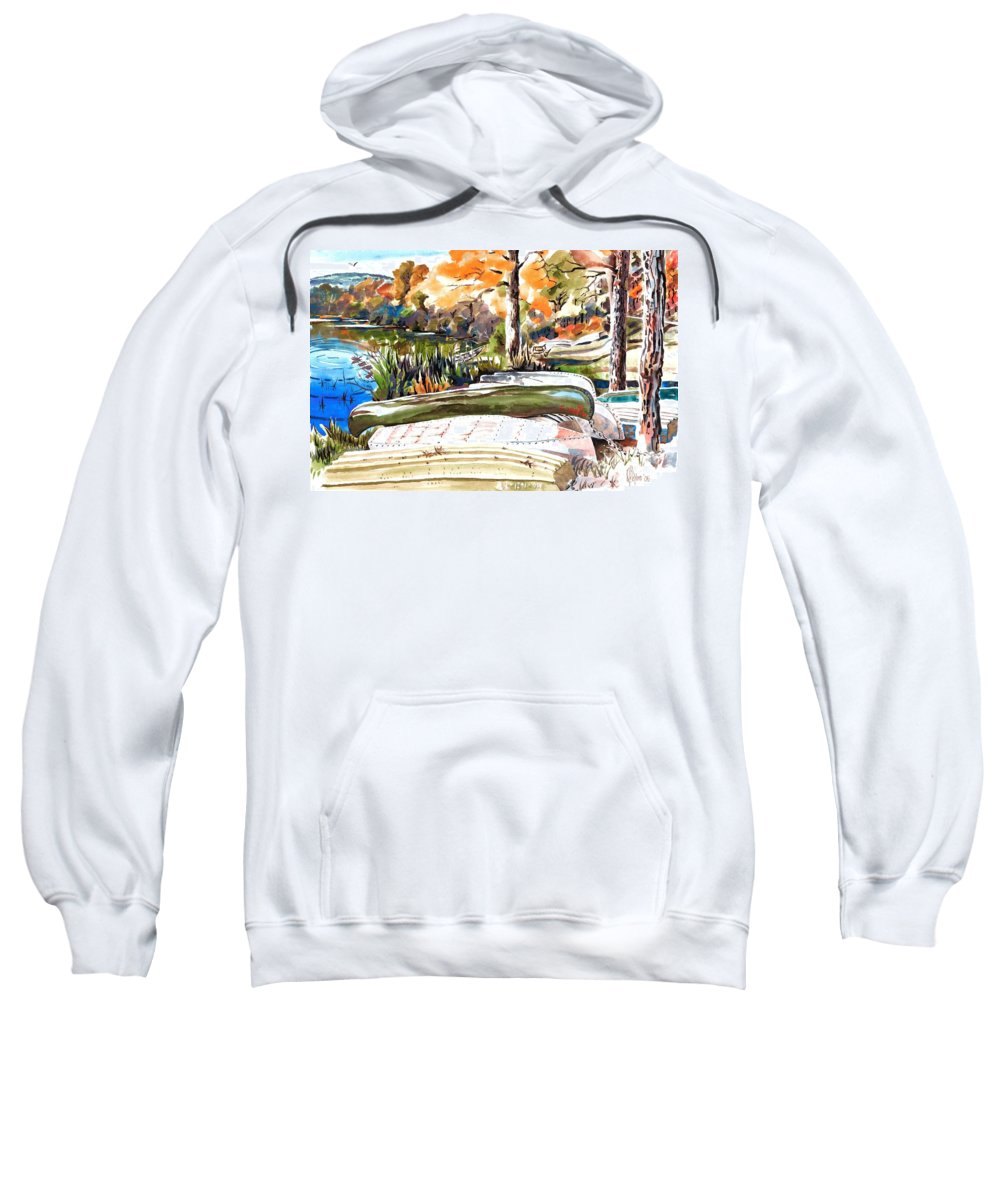 Last Summer In Brigadoon Sweatshirt featuring the painting Last Summer In Brigadoon by Kip DeVore