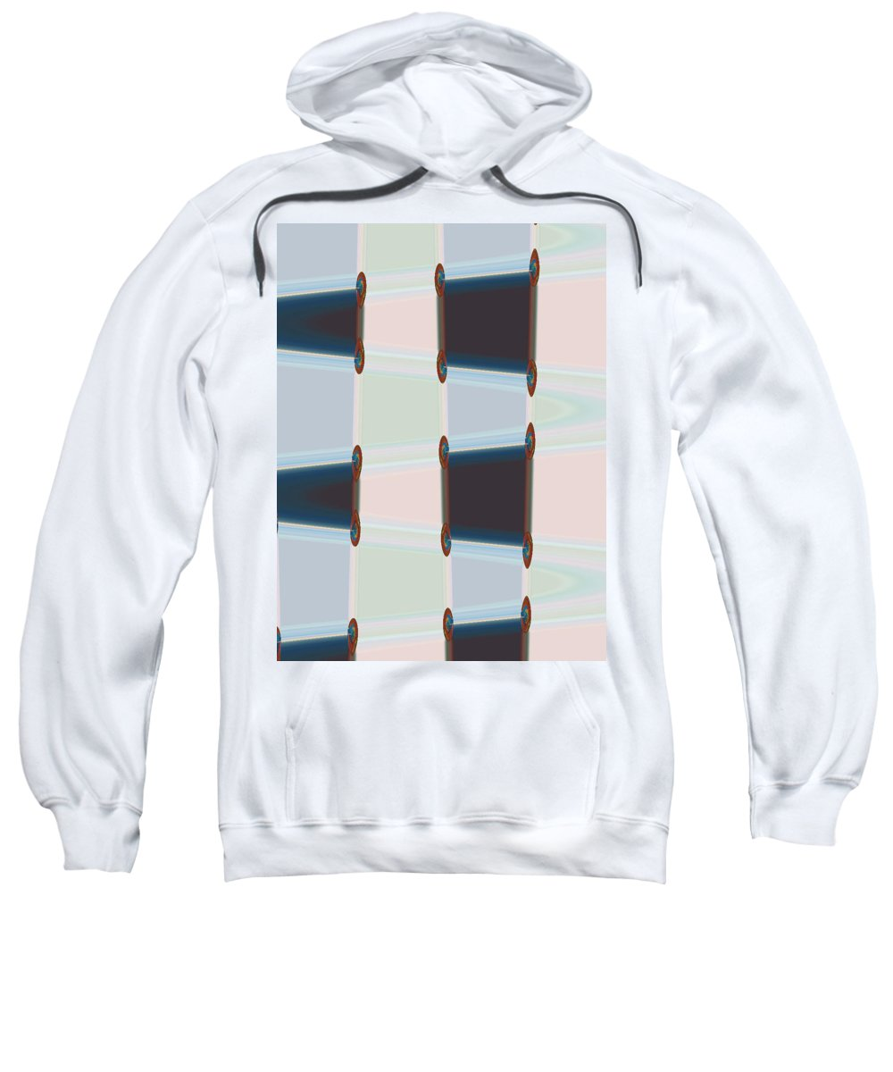 Abstract Sweatshirt featuring the digital art Latches by Lenore Senior