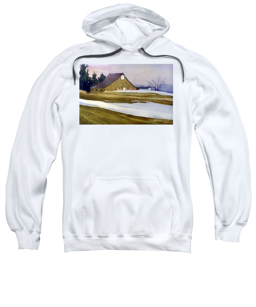 New Jersey Sweatshirt featuring the painting Late Winter Melt by Donald Maier