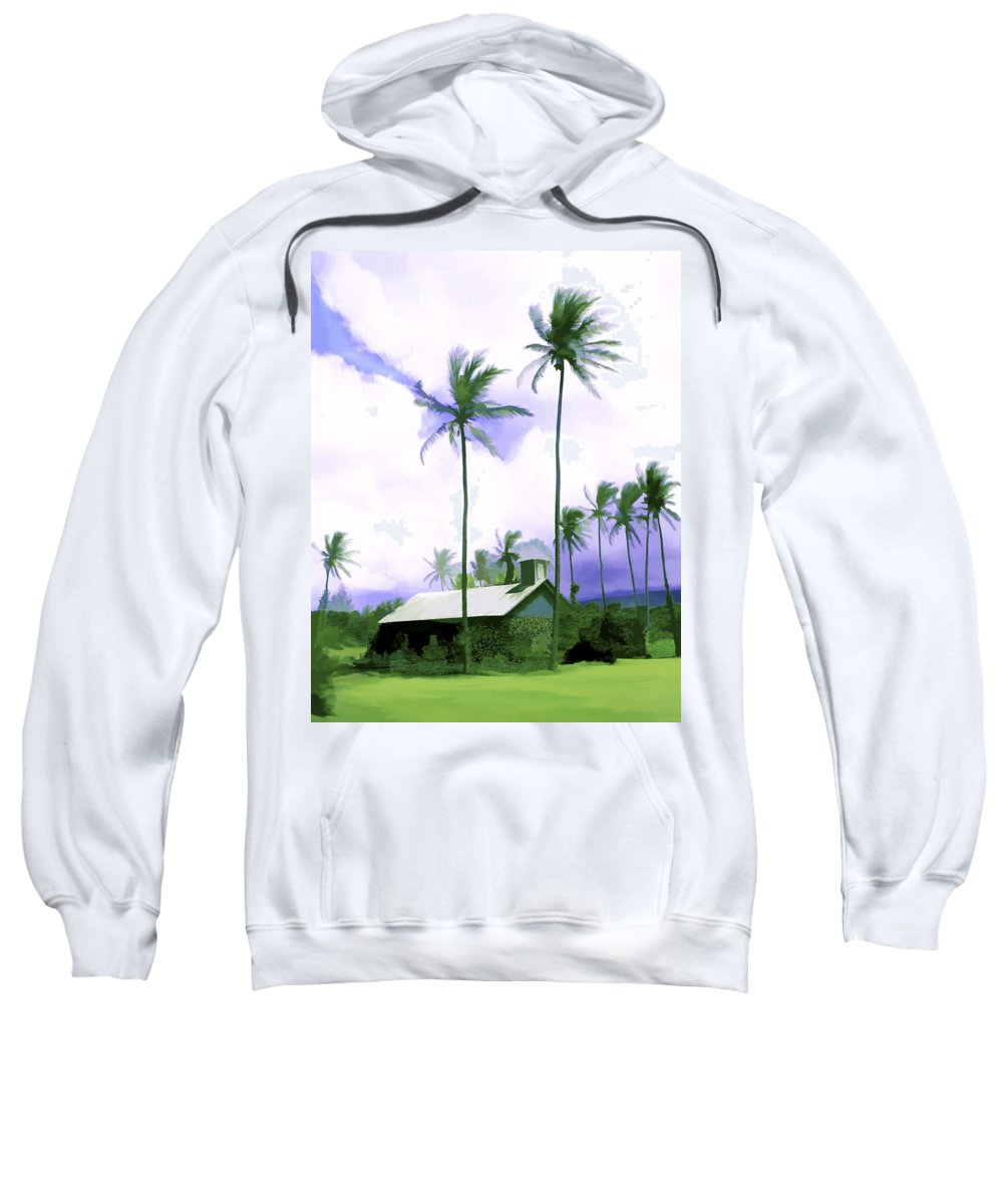 Hawaii Sweatshirt featuring the photograph Lava Rock Church by Kurt Van Wagner