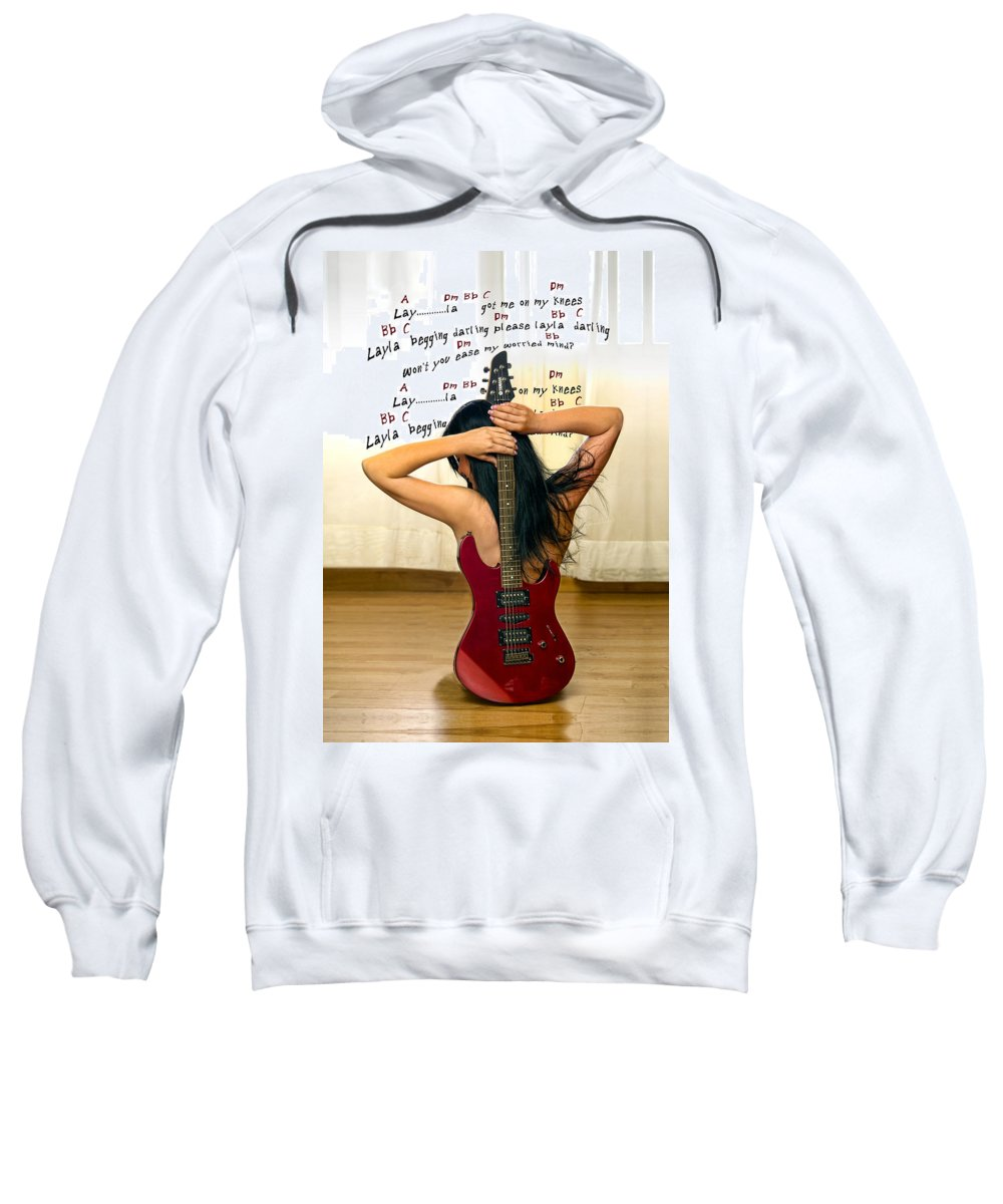 Electric Guitar Sweatshirt featuring the photograph Layla by Donovan Torres
