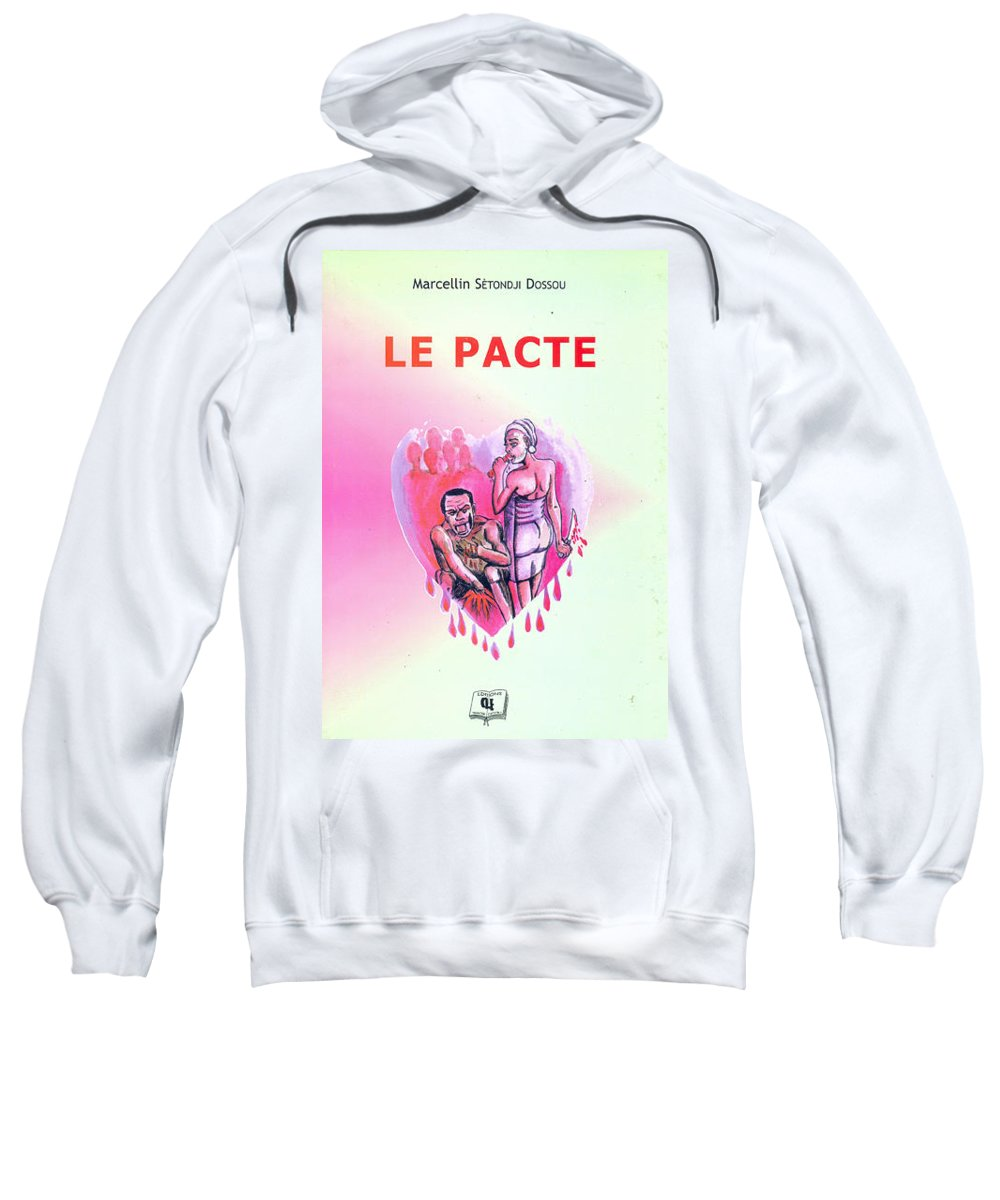 Portraits Sweatshirt featuring the painting Le Pacte Front Cover by Emmanuel Baliyanga