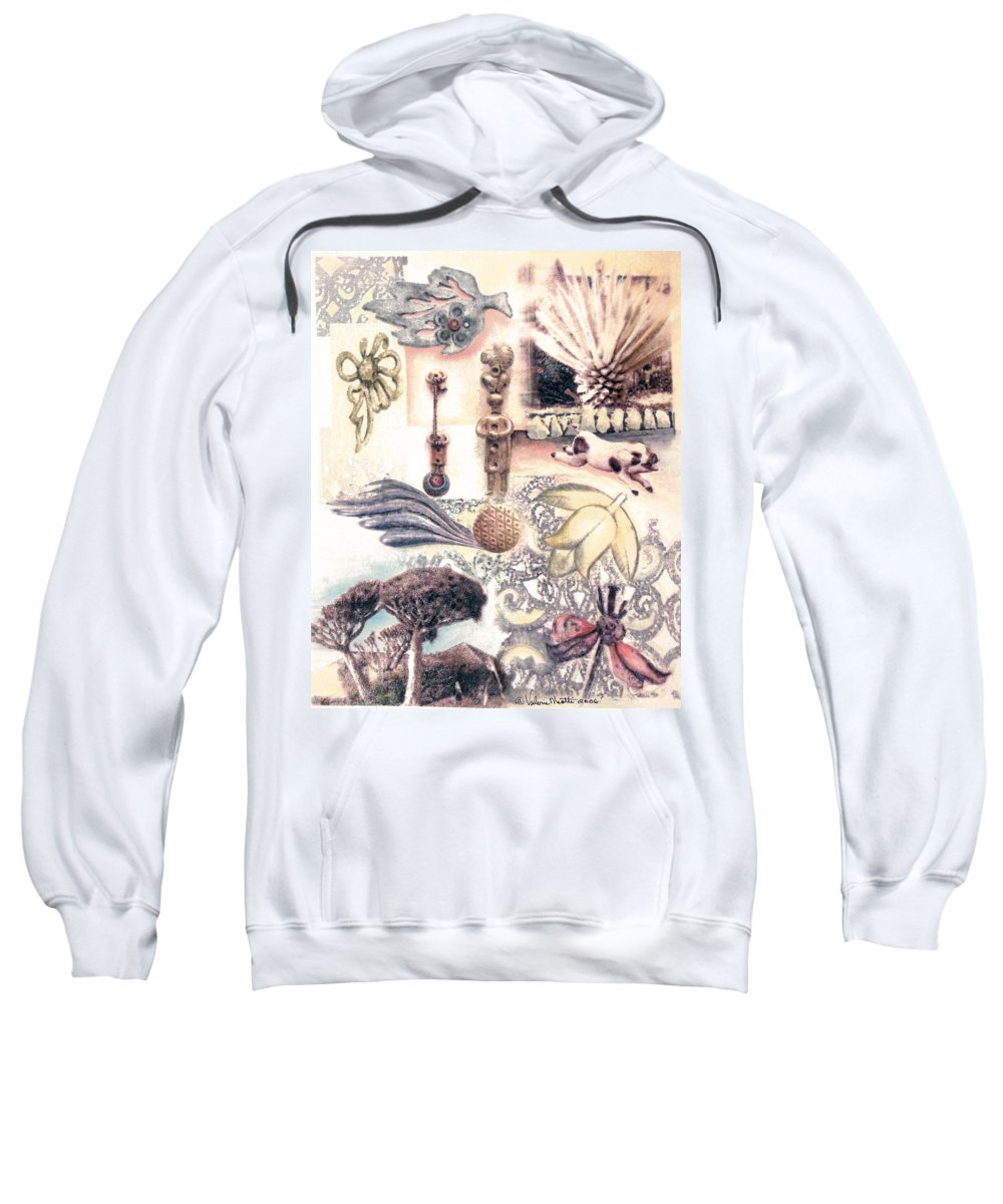 Abstract Sweatshirt featuring the painting Le Petite Pig Does Fly by Valerie Meotti