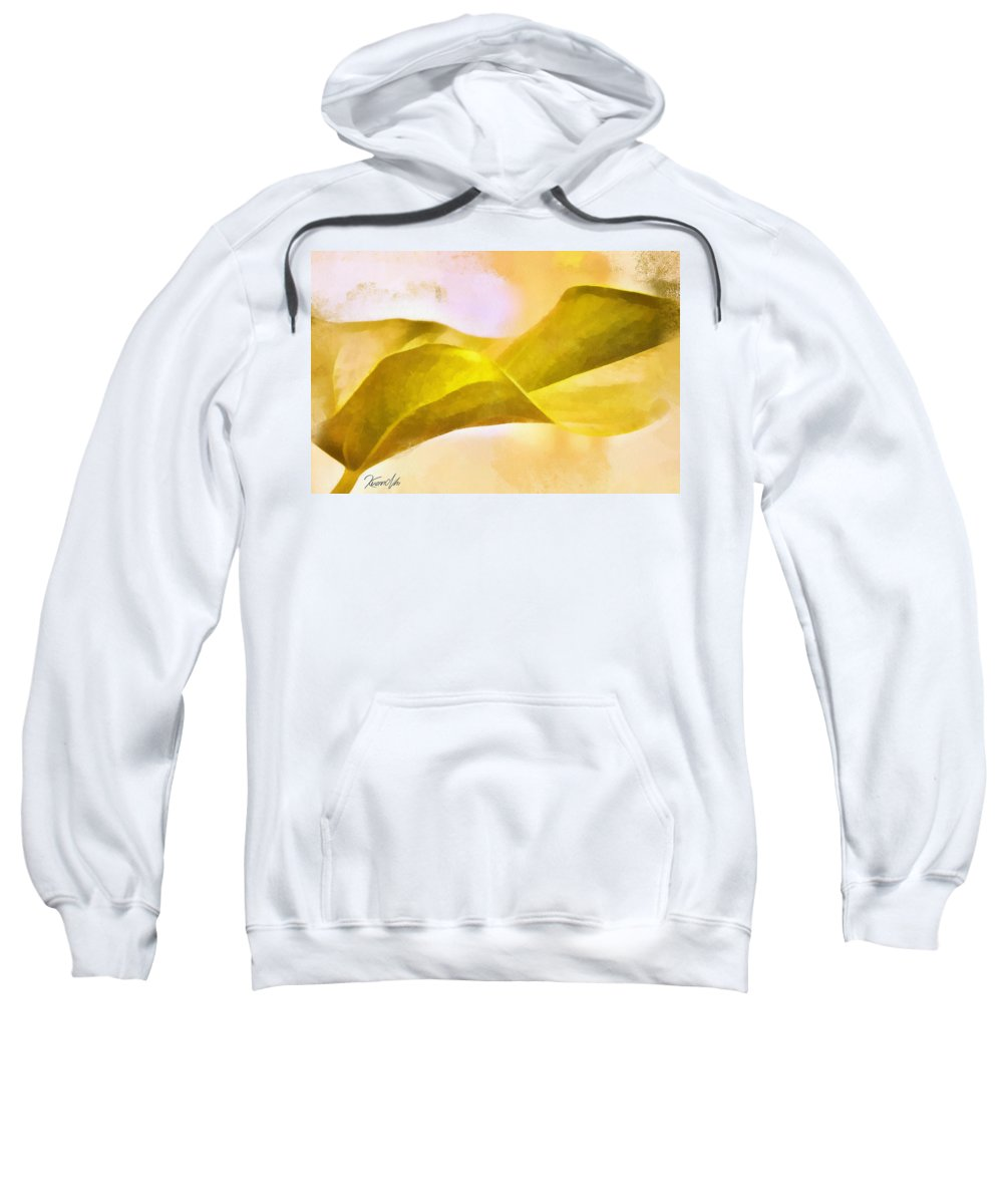 Leaf Y Sweatshirt featuring the digital art Leaf Y by Nhi Ho