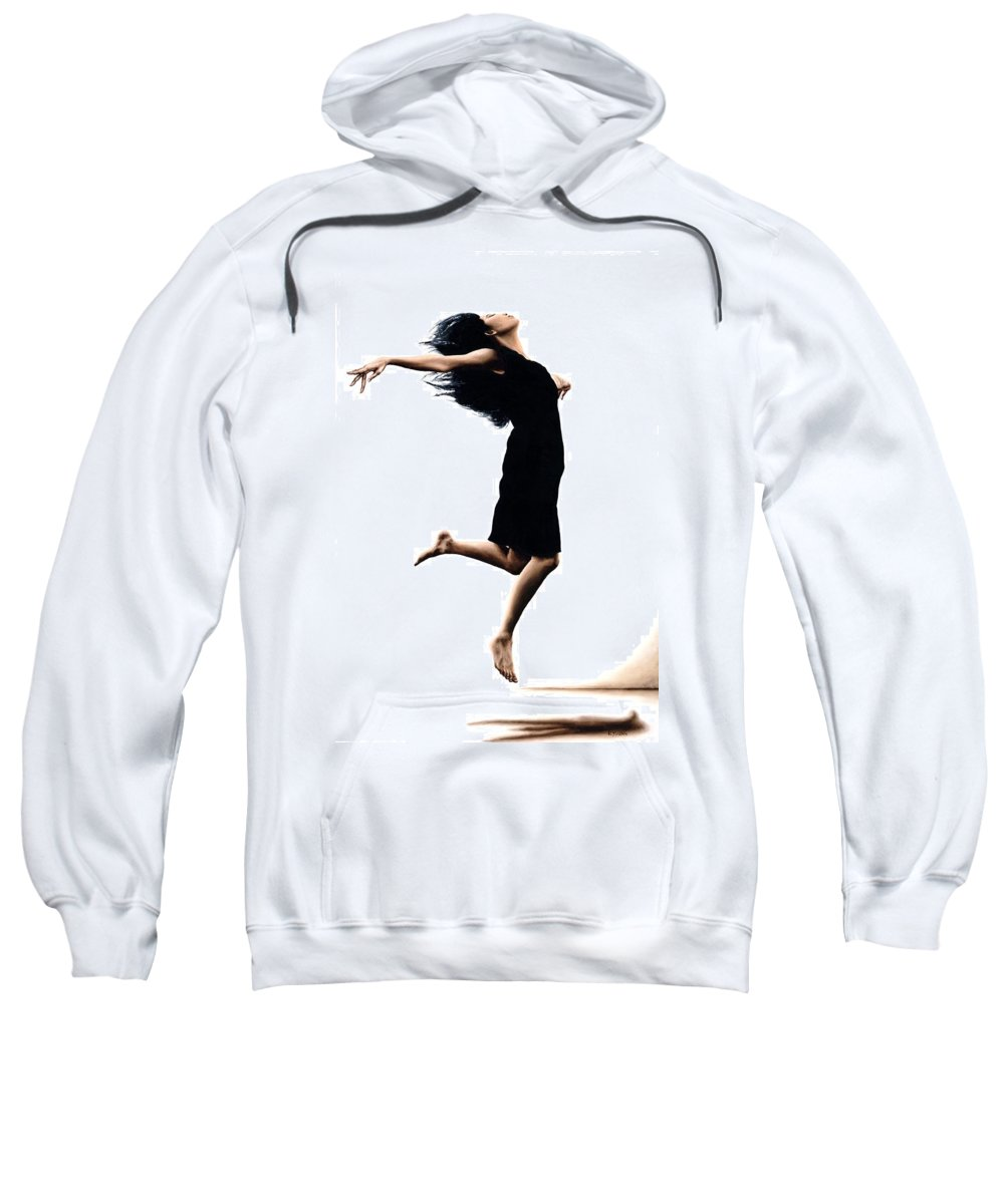 Ballet Sweatshirt featuring the painting Leap Into The Unknown by Richard Young