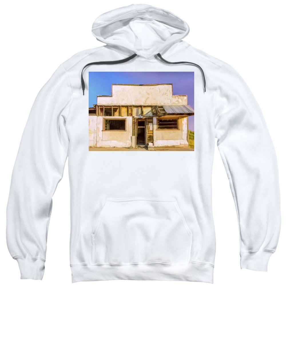 Old Storefront Sweatshirt featuring the painting Lease Option by Dominic Piperata