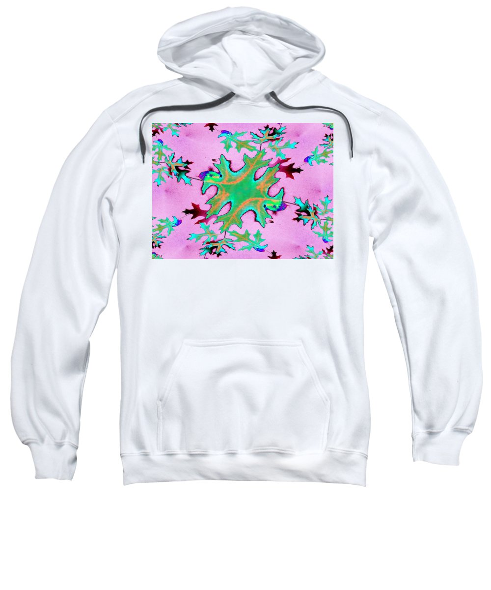 Leaf Sweatshirt featuring the photograph Leaves In Fractal by Tim Allen