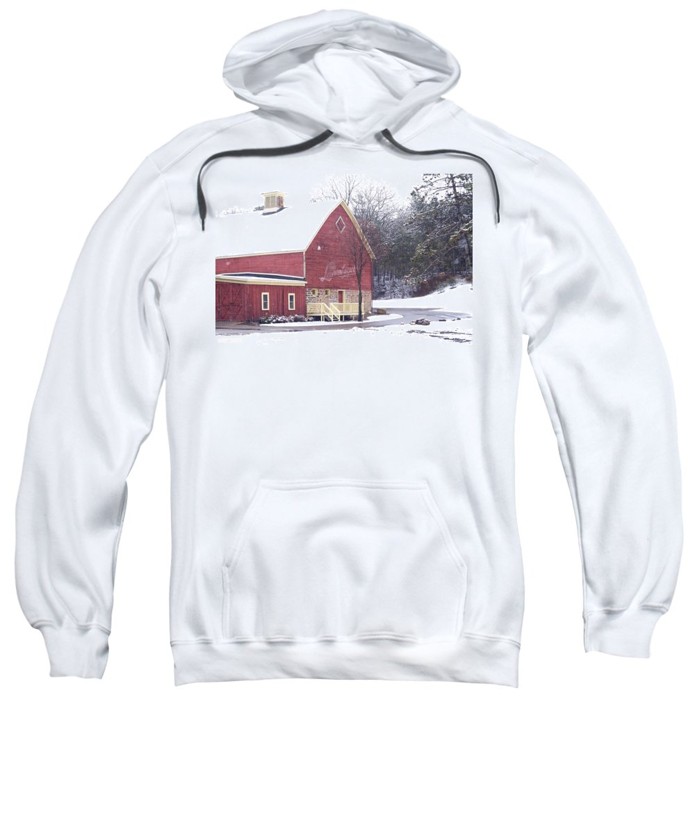 Barn Sweatshirt featuring the photograph Leinie by Tim Nyberg