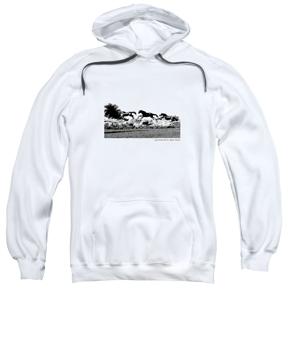 Horse Sweatshirt featuring the photograph Lely Horses by Laurie Paci