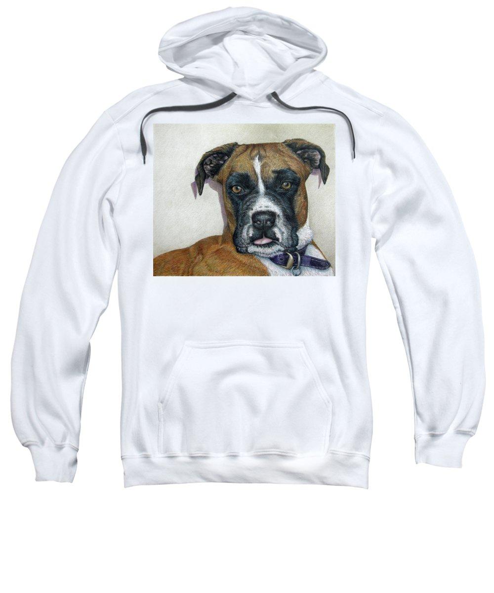 Fuqua - Artwork Sweatshirt featuring the drawing Lennox by Beverly Fuqua