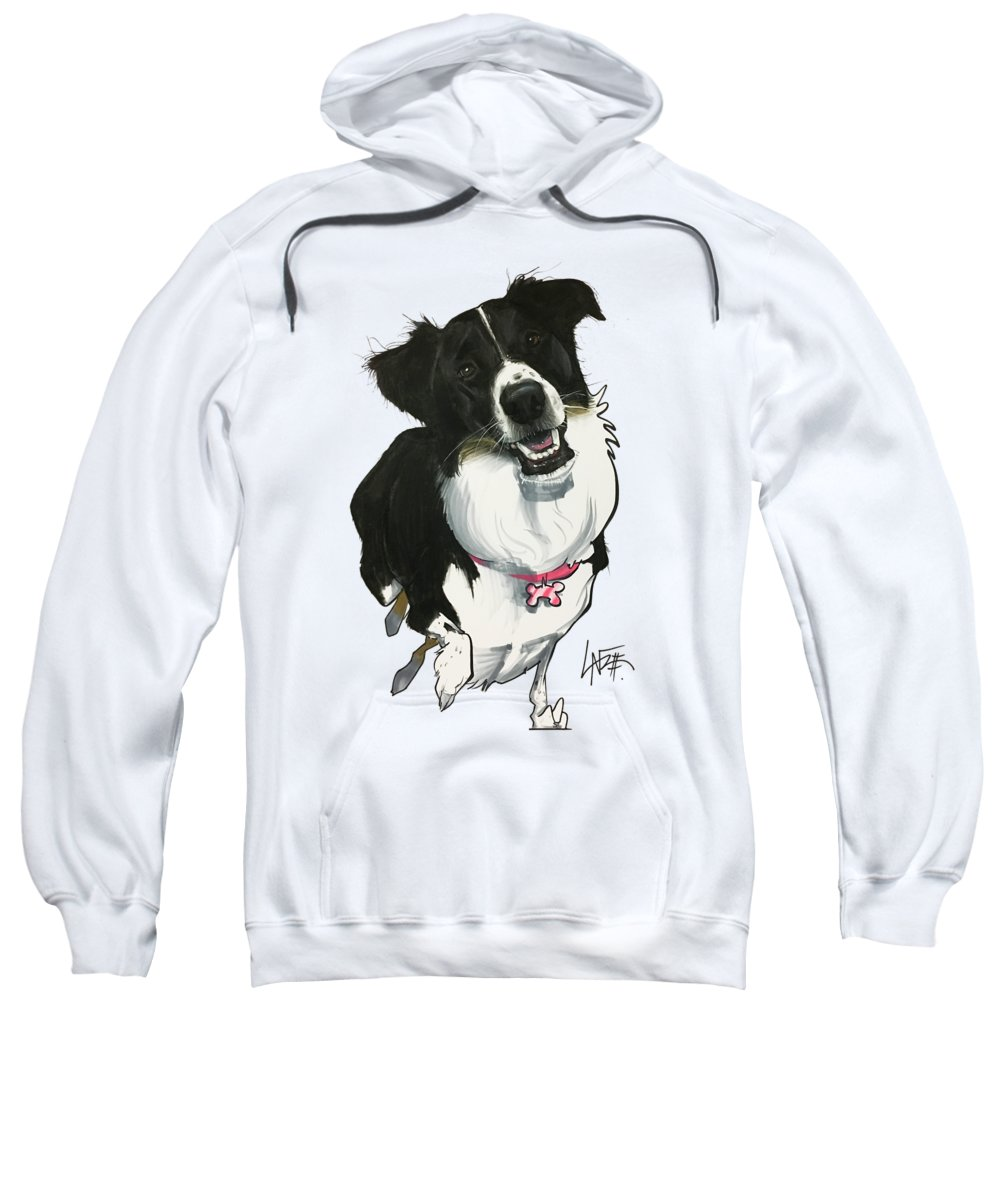 Pet Portrait Sweatshirt featuring the drawing Leone 7-1488.2 by John LaFree