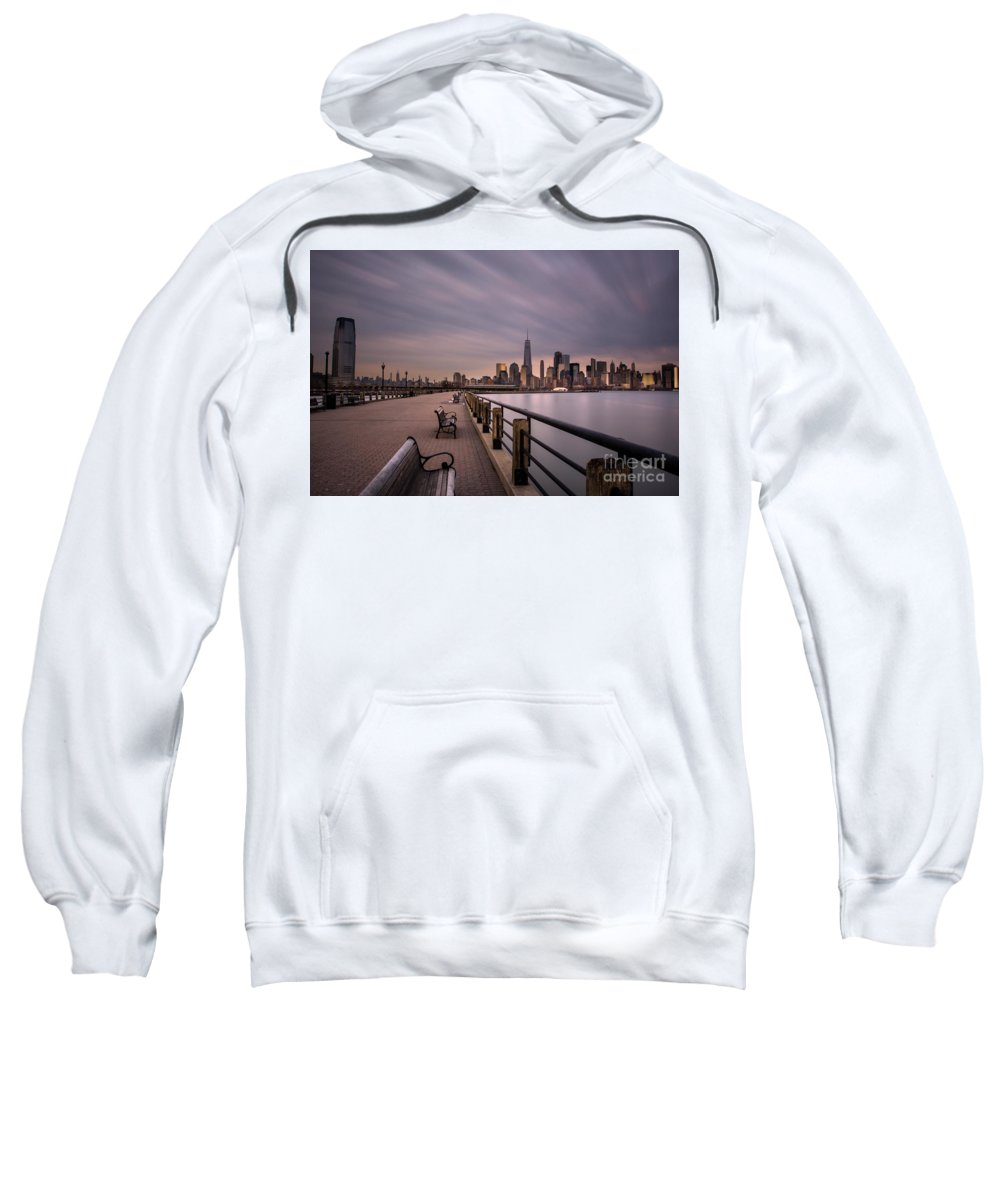 Liberty State Park Sweatshirt featuring the photograph Liberty State Park by Reynaldo Brigantty