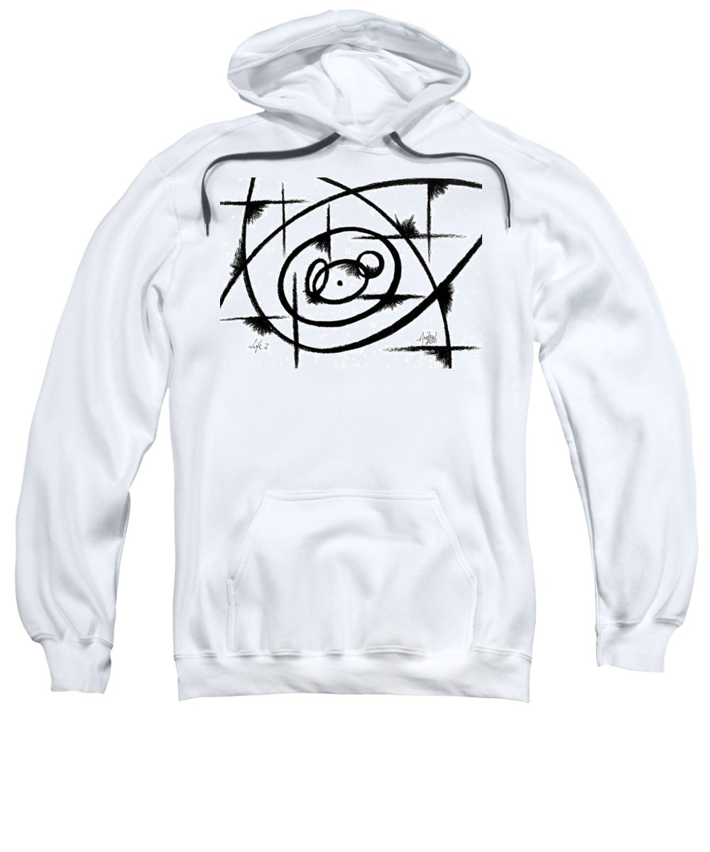 Modernist - Contemporany Sweatshirt featuring the drawing Life I by Arides Pichardo