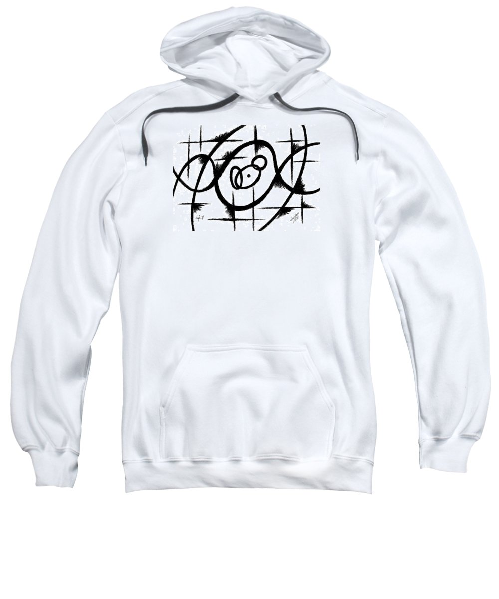 Modernist - Contemporany Sweatshirt featuring the drawing Life II by Arides Pichardo