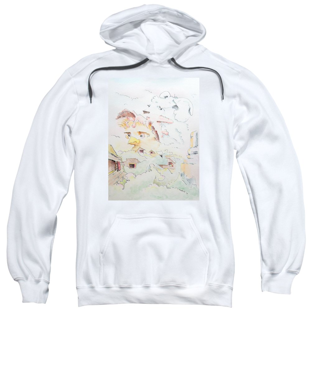 Farm Sweatshirt featuring the painting Life On The Farm by Dave Martsolf