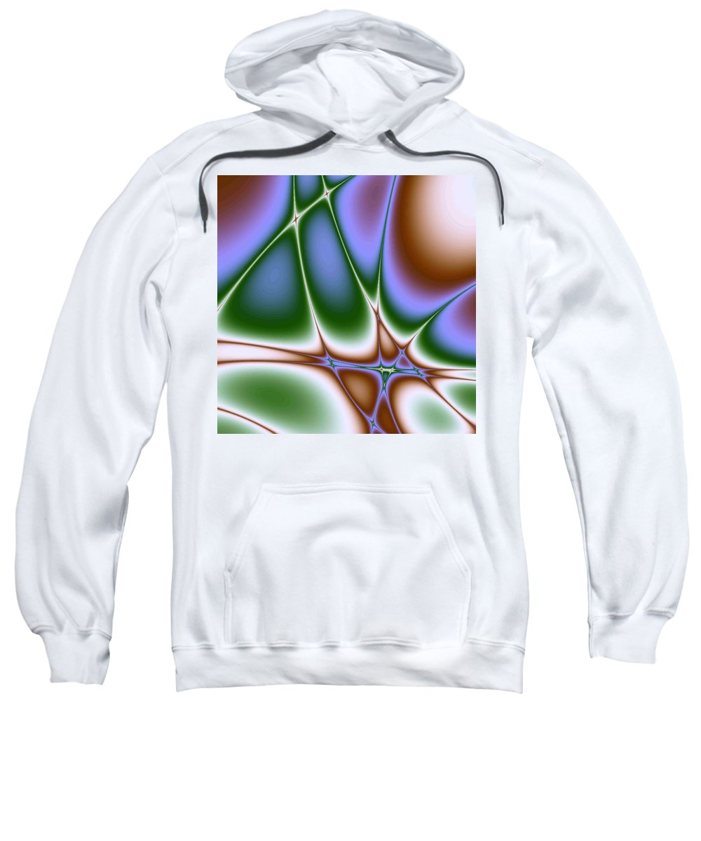 Life Path. Abstract Sweatshirt featuring the digital art Life Path by Dragica Micki Fortuna