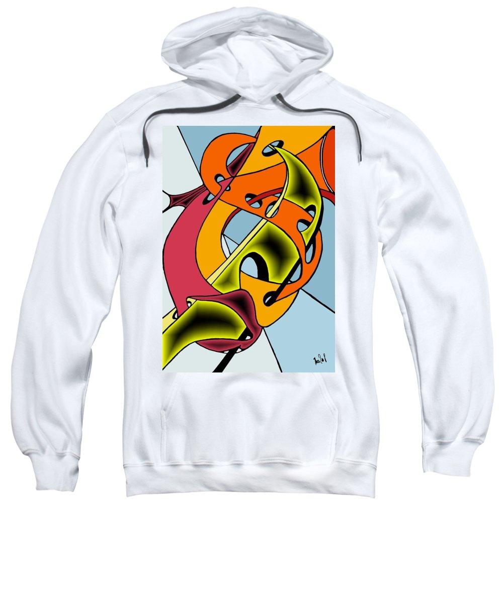 Lifeways Sweatshirt featuring the digital art Lifeways by Helmut Rottler