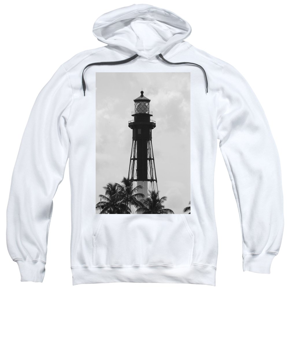 Landscape Sweatshirt featuring the photograph Lighthouse In Black And White by Rob Hans