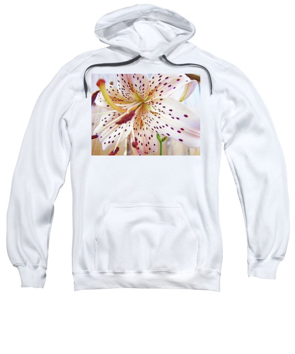 Lilies Sweatshirt featuring the photograph Lily Flower White Lilies Art Prints Baslee Troutman by Baslee Troutman