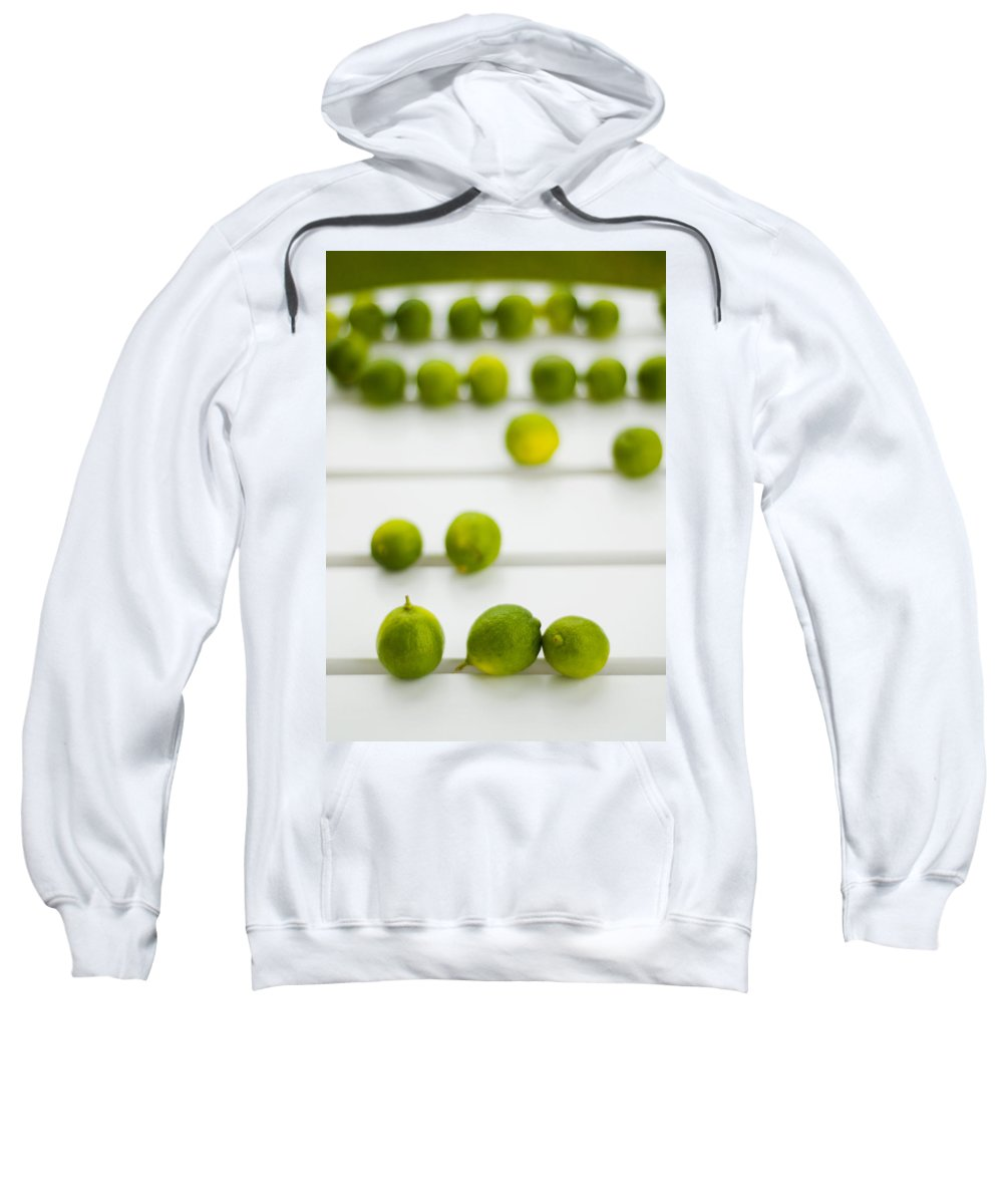 Green Sweatshirt featuring the photograph Lime Green by Skip Hunt