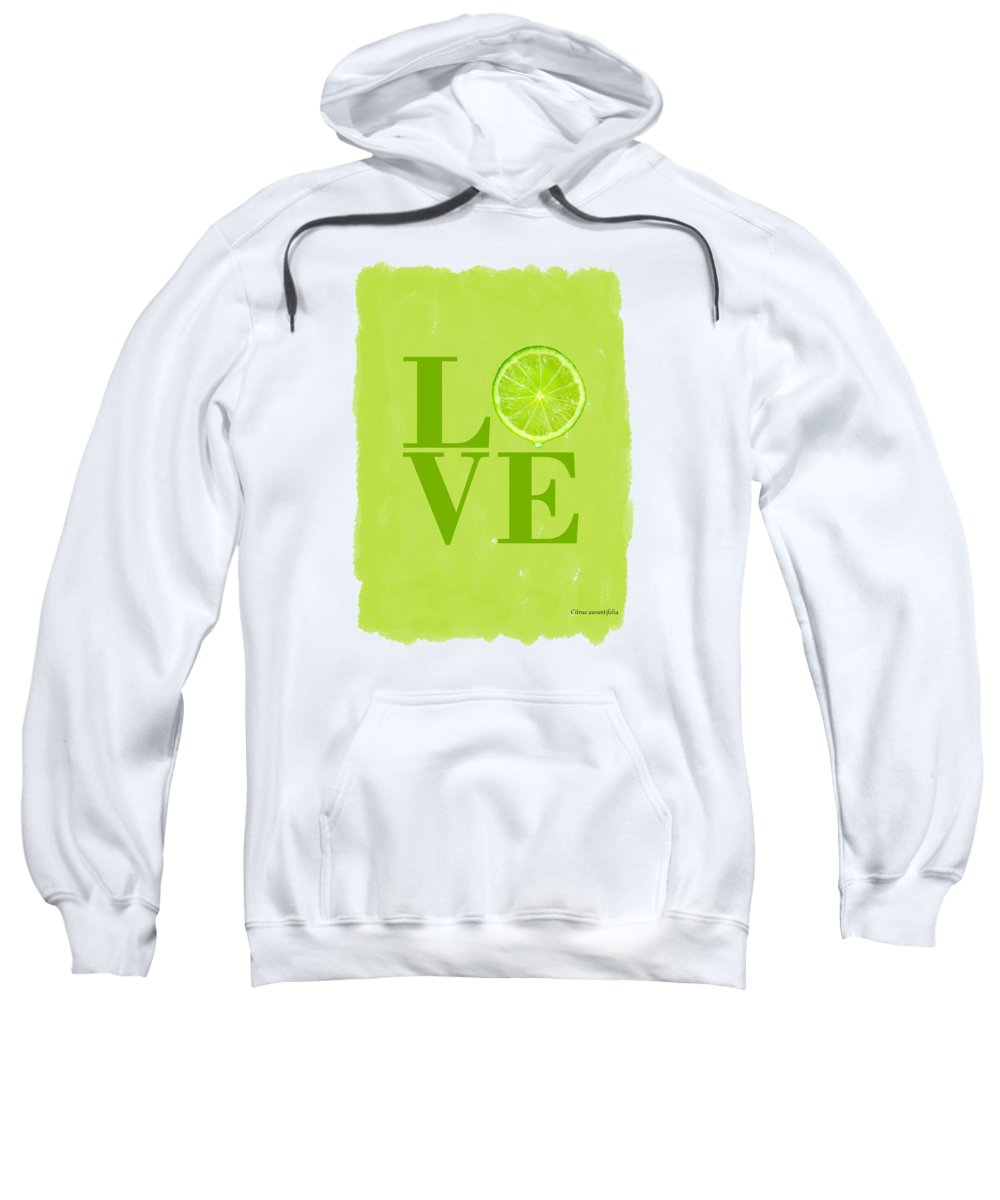 Lime Sweatshirt featuring the photograph Lime by Mark Rogan